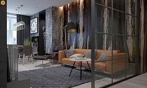 کاربرد دیوارهای شیشه ای در طراحی داخلی آپارتمان