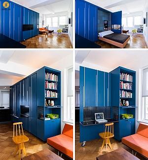 طراحی داخلی آپارتمان کوچک با استفاده از لوازم کم جا