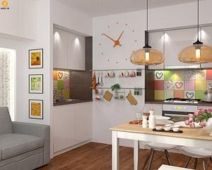 معماری داخلی 2 آپارتمان با مساحت کمتر از 50 مترمربع