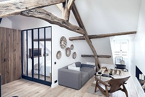 طراحی داخلی آپارتمان به سبک فرانسوی