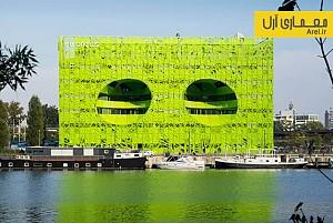 معماری و طراحی ساختمان موسوم به مکعب سبز برای شبکه ی خبری یورونیوز