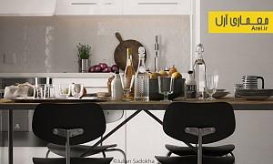 استفاده از تم خاکستری در طراحی داخلی آپارتمان