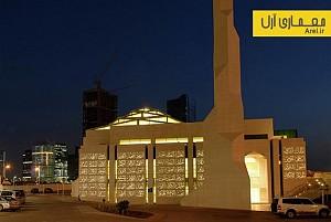 معماری اسلامی: طراحی نمای بتنی مسجد العزیز در ابوظبی