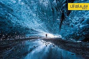 دیافراگم: تصاویری خیره کننده از غارهای یخی ایسلند