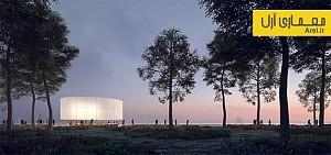 معماری و طراحی کیوسکی با هدف نورپردازی پارک میلنیوم