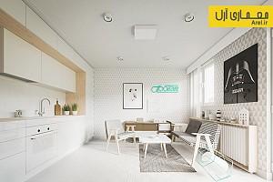 معماری داخلی سه آپارتمان با مساحت کمتر از 50 مترمربع