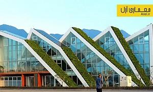 معماری پایدار: معماری و طراحی مجتمع مسکونی با پانل های خورشیدی و بام سبز