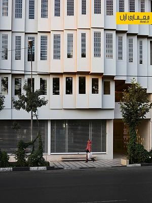 طراحی ساختمان تجاری اداری ولیعهد توسط هومن بالازاده