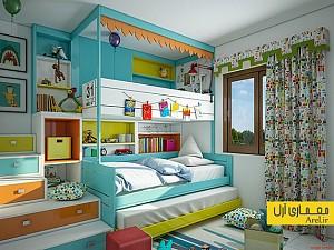 دکوراسیون اتاق خواب کودک با رنگ های متفاوت