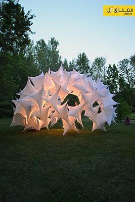 طراحی سازه کش بستی پارامتریک در  Muncie, IN, USA