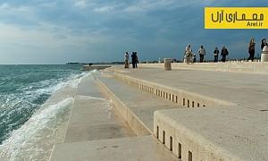طراحی شهری: طراحی سازی ساحلی برای نواختن موسیقی به کمک امواج دریا!