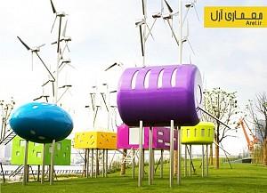 معماری و طراحی غرفه هایی شبیه به آبنبات در یکی از پارکهای شانگهای