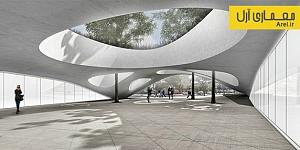 معماری و طراحی سایبانی بتنی برای ایستگاه متروی Vitry در فرانسه