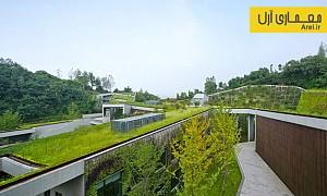 معماری پایدار: معماری و طراحی بامی سبز برای ساختمان مرکز ارتباطات در چین