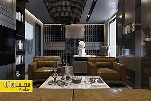 طراحی داخلی آپارتمان لوکس مدرن با تم تیره - بخش دوم