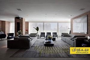 طراحی داخلی منزل مدرن برای خانواده 4 نفره