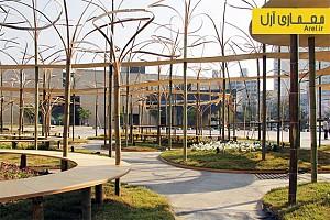 طراحی فضای شهری عمومی  با برپا کردن چوب های بامبو  توسط تویو ایتو