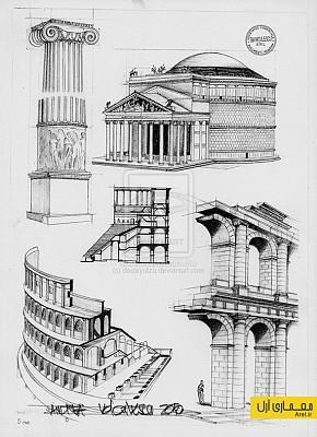 مجموعه اسکیس نمای رومی و کلاسیک