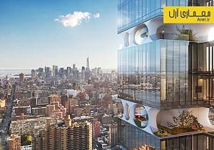 معماری و طراحی آسمان خراشی با باغ هایی میان طبقات