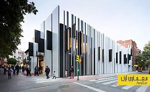 طراحی و ساخت نمای متفاوت برای ساختمانی فرهنگی در اسپانیا