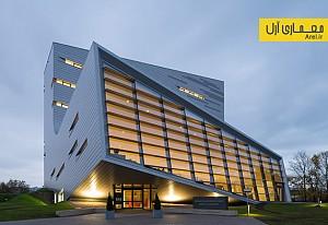 معماری ساختمان مسکونی با حجم L شکل