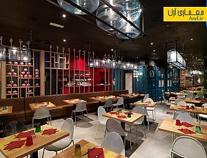 معماری داخلی رستوران  Pizzikotto