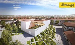 معماری و طراحی مرکز هنر مدرن در لیتوانی توسط دنیل لیبسکیند