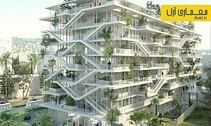معماری و طراحی ساختمان اداری و هوشمند از نظر زیستی در فرانسه