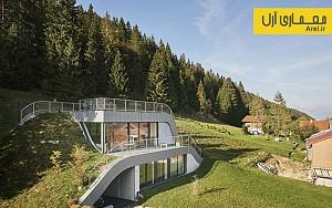 معماری و طراحی ویلایی سبز در دل کوهستان