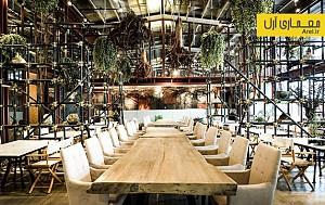 طراحی داخلی رستوران سبز ویواریوم در بانکوک