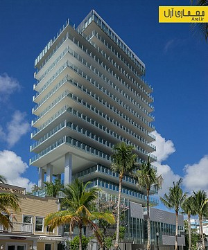 معماری و طراحی برج مسکونی شیشه ای در سواحل میامی