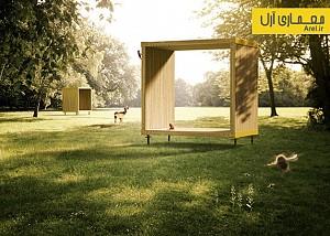 طراحی مجموعه ای از مبلمان شهری با چوب های سوئدی
