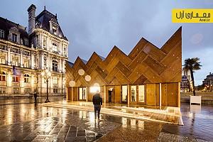 طراحی و ساخت غرفه با 180 درب چوبی - پاریس