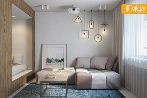 دکوراسیون داخلی خلاقانه آپارتمان کوچک