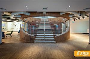 طراحی داخلی دفتر اداری AVAYA