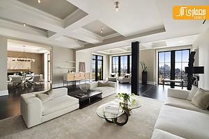 دکوراسیون و طراحی داخلی آپارتمان لوکس با رنگ های خنثی