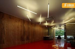 طراحی داخلی دفتر کار با استفاده از متریال های رایج