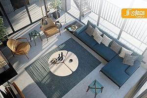 بررسی طراحی  داخلی دو آپارتمان با متریال های سرد