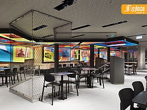 طراحی داخلی رستوران مک دونالد در پاریس