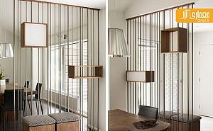 طراحی جزئی: جداکننده ی فلزی و چوبی، ساده و کاربردی