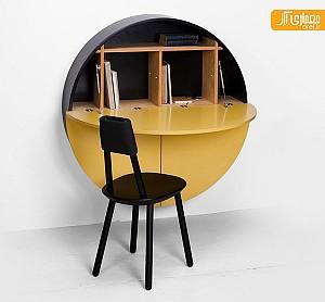 چگونه می توان میز کار و کتابخانه ای برای فضای محدود قرار داد؟
