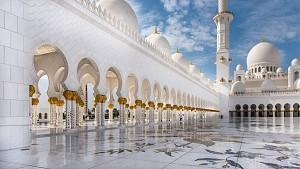 نورپردازی مسجد شیخ زاید بن سلطان در دبی!