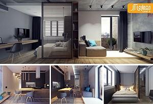 معماری داخلی واحد مسکونی، با متراژ کمتر از 50 مترمربع