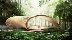 طرح پیشنهادی ویلا توسط کنگو کوما، در جزیره کوهستانی اندونزی