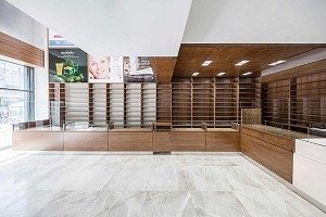 طراحی داخلی داروخانه نوید در محله پیروزی