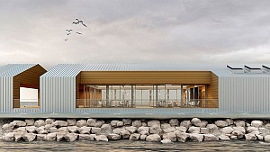 نگاهی به طراحی رستوران غذاهای دریایی در کیش