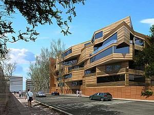 طراحی نمای ساختمان مسکونی ارغوان