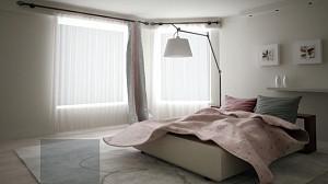 یک اتاق خواب، هزار رنگ و بافت!