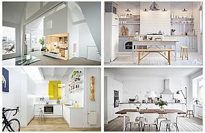 25 نمونه فوق العاده دکوراسیون داخلی آشپزخانه مدرن سفید