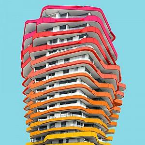 یک شنبه های عکاسی: رنگ آمیزی ساختمان های برلین با فتوشاپ